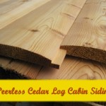 Cedar rounded Log Cabin Siding
