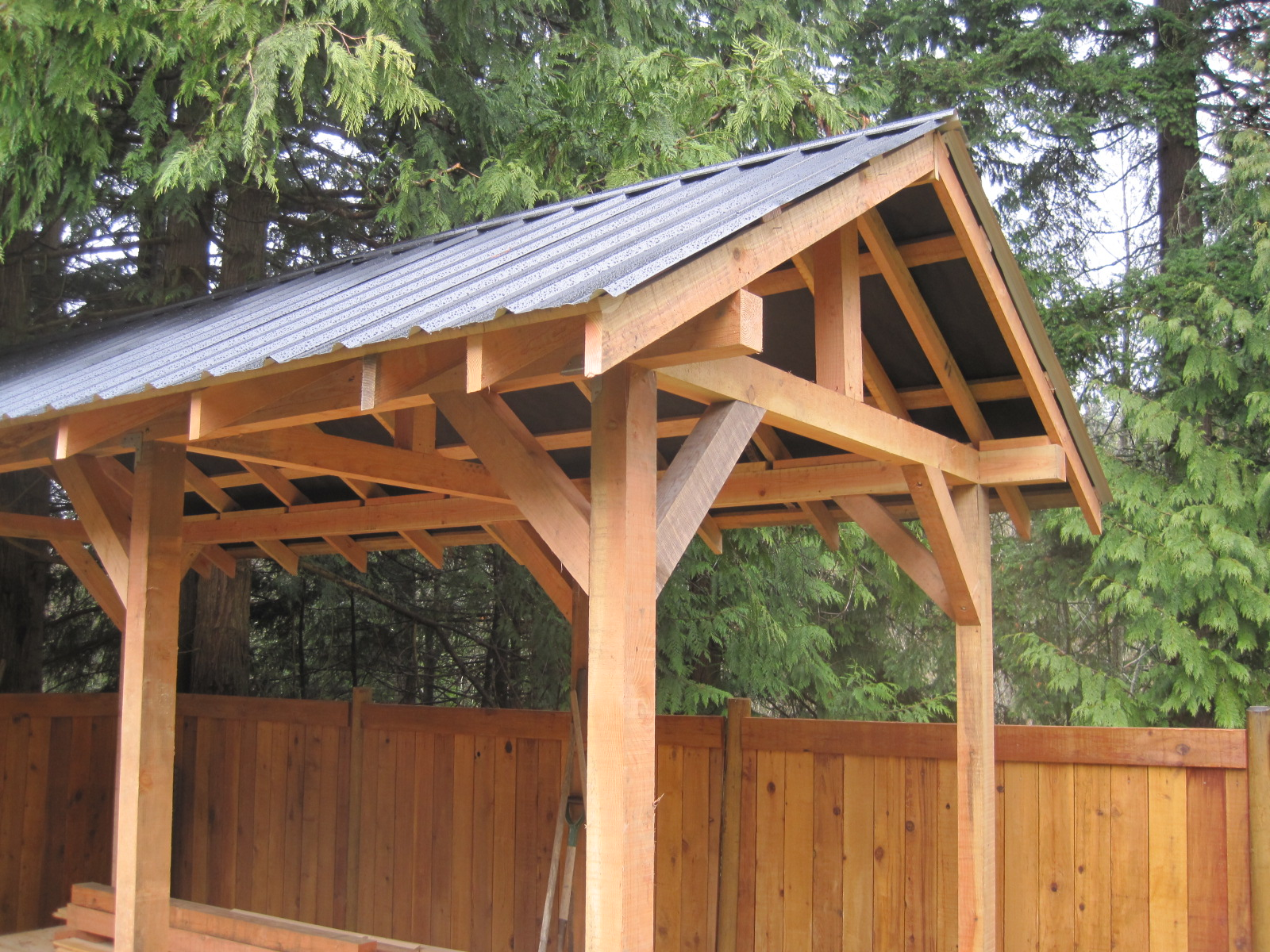Custom small post and beam structures peerless forest for Post and beam construction plans