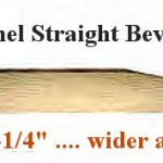 Straight bevel profile