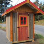 Exterior barn board with  Red colour barn wood door