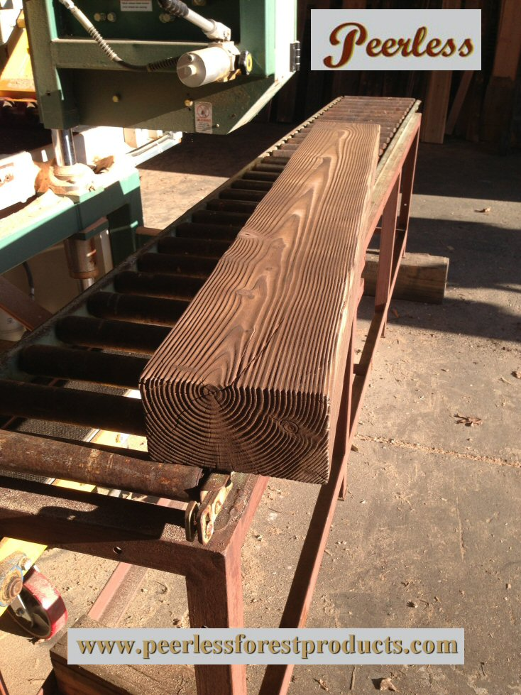Carbonized fir mantel 3