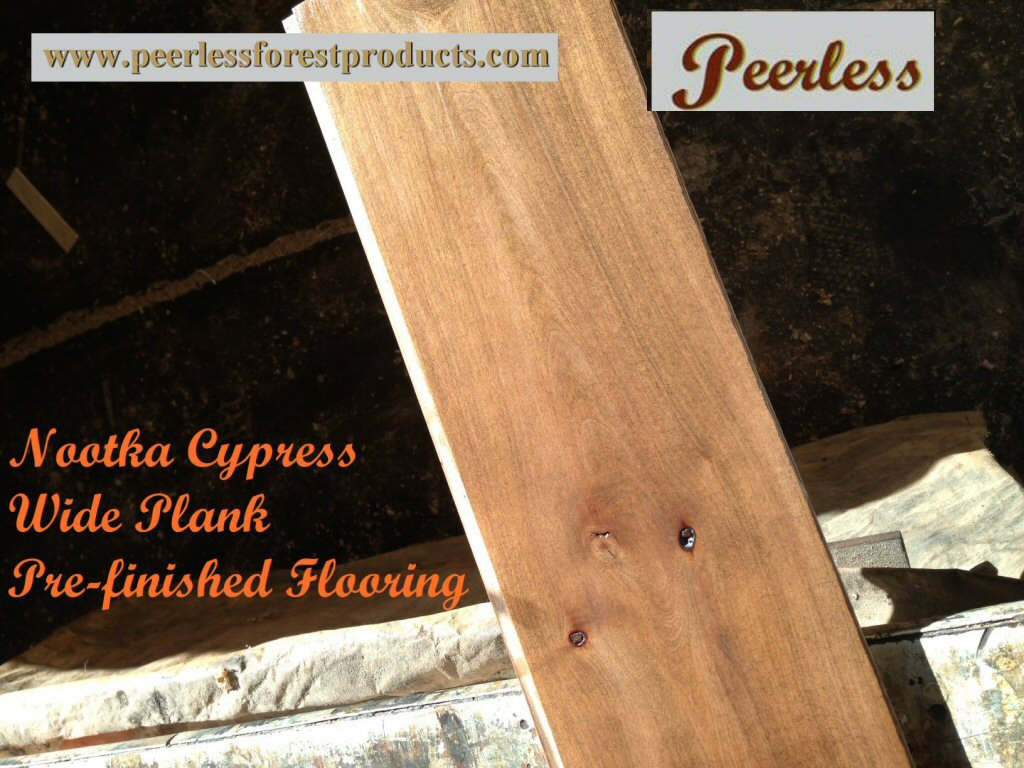 Peerless Yellow Cedar Plank Flooring Pre-finish