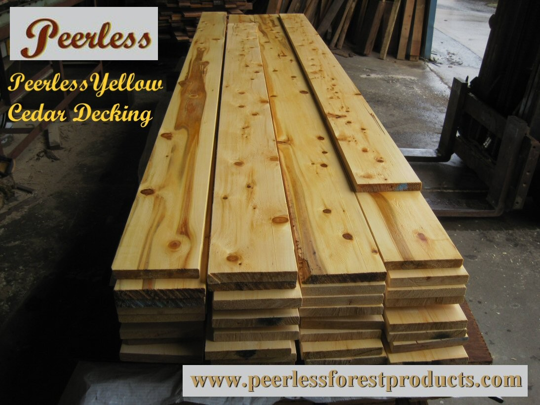 Peerless Yellow Cedar Exterior Decking