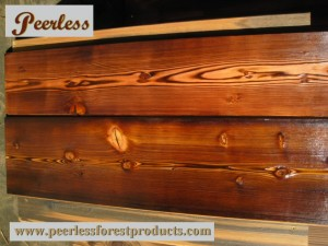 Burnt Prefinish Fir Plank