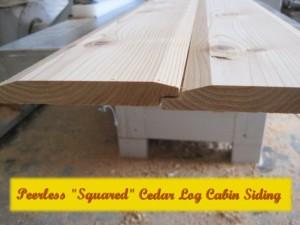 Cedar Squared Log cabin siding