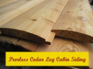 Cedar rounded Log Cabin Siding