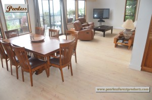 Peerless 1x6 Fir Plank Flooring finished to natural tones...