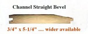 Straight bevel profile