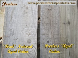 Compare real to Peerless Barnboard