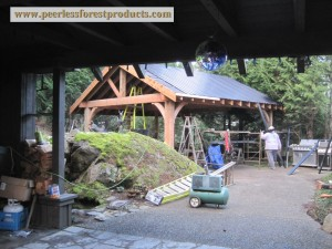 Peerless Post and Beam structure 1, Peerless Forest Products, Duncan, British Columbia 1420 x 1000