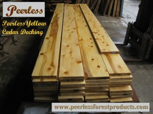 Peerless Forest Products Nootka Cypress Decking, Victoria, British Collumbia